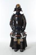 【鎧兜甲冑等身大】茶塗 頭形兜 胸取り 二枚胴具足