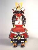 【鎧兜甲冑 端午の節句鎧 五月人形】赤糸威 当世小札 稚児大鎧 稚児鎧