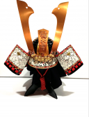 【鎧兜甲冑 端午の節句鎧 五月人形】 源義経 稚児鎧 兜のみ