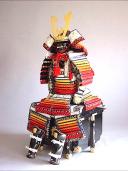 【鎧兜甲冑 端午の節句鎧 五月人形】赤糸裾濃威 稚児大鎧 稚児鎧