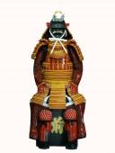 【鎧兜甲冑等身大】金茶糸威 段替赤二枚胴具足