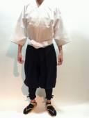 【鎧兜甲冑用装束・衣装】鎧たっつけ袴(黒)