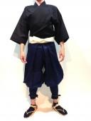 【鎧兜甲冑用装束・衣装】鎧たっつけ袴(紺)