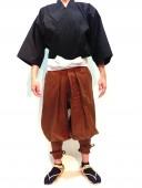 【鎧兜甲冑用装束・衣装】鎧たっつけ袴(茶)