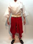 【鎧兜甲冑用装束・衣装】鎧たっつけ袴(赤)